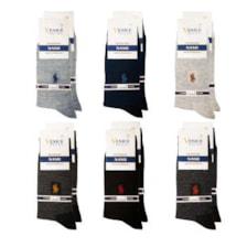 جوراب مردانه ونیز کد AL-V6 مجموعه 12 عددی            غیر اصل