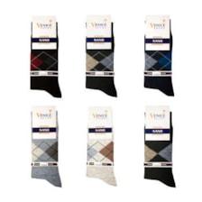 جوراب مردانه ونیز کد AL-V9 مجموعه 6 عددی