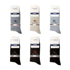 جوراب مردانه ونیز کد AL-V11 مجموعه 6 عددی            غیر اصل