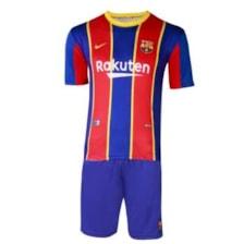 ست پیراهن و شورت ورزشی پسرانه طرح بارسلونا مدل مسی 2021            غیر اصل