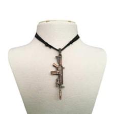 گردنبند مردانه طرح اسلحه  کد gt22