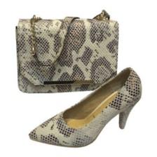 ست کیف و کفش زنانه طرح پوست ماری کد S3
