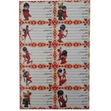 برچسب طرح دختر کفشدوزکی کد 021 بسته 2 عددی