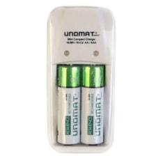 شارژر باتری یونومات مدل PSC004 به همراه 2 باتری قلمی قابل شارژ