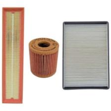 فیلتر هوا خودرو سرکان مدل SF1223مناسب برای پژو پارس TU5 به همراه فیلتر روغن و فیلتر کابین