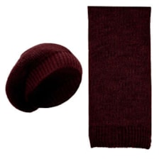 ست کلاه و شال گردن بافتنی کد Z4387
