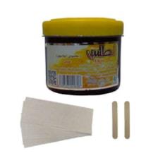 موم موبر اطلس مدل عسل حجم 300 میلی لیتر به همراه پد اپیلاسیون بسته 10 عددی و آبسلانگ موم بسته 2 عددی