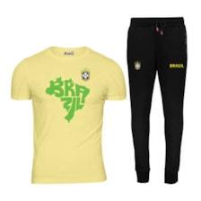 ست تی شرت و شلوار ورزشی مردانه پاتیلوک طرح برزیل کد 400101