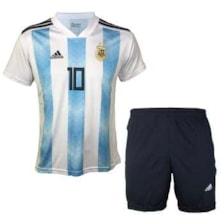 ست پیراهن و شورت ورزشی مردانه ای آر اسپورت طرح تیم ملی آرژانتین مدل مسی کد 01            غیر اصل