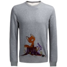 سویشرت زنانه 27 طرح روباه کد J05 رنگ طوسی روشن