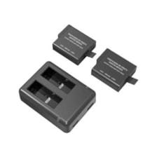 شارژر باتری دوربین راوپاور مدل RP-PB074 به همراه دو عدد باتری