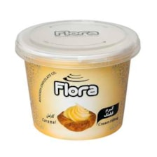 کرم فیلینگ کیک و شیرینی با طعم کارامل فلورا - 300 گرم