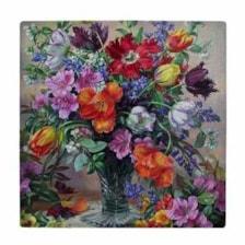 کاشی طرح گلدان گل کد wk3424