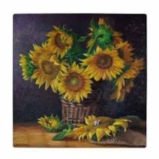 کاشی طرح گل های آفتابگردان کد wk3431