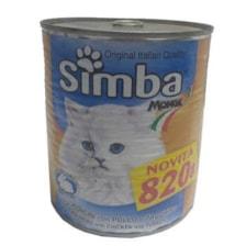 کنسرو غذای گربه سیمبا کد 8250 وزن 820 گرم