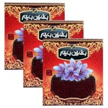 زعفران سرگل درجه یک زعیم - 4.608 گرم بسته 3 عددی