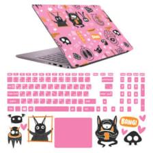 استیکر لپ تاپ صالسو آرت مدل 6005 hk مناسب برای لپ تاپ 15 اینچی به همراه برچسب حروف فارسی کیبورد