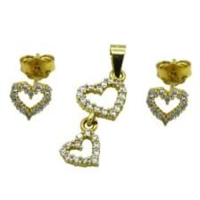 نیم ست طلا 18 عیار جواهری سون مدل 1629