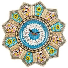 ساعت دیواری خاتم کاری گالری گوهران مدل زرین کد 1388