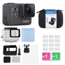 مجموعه دوربین فیلم برداری ورزشی گوپرو مدل HERO5 Black Quick Stories همراه با کیف لوازم جانبی 12 تکه