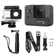 دوربین فیلم برداری ورزشی گوپرو مدل HERO6 Black Quick Stories به همراه لوازم جانبی پلوز