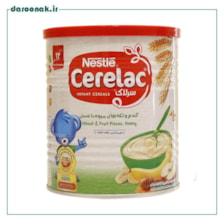 سرلاک گندم و تکه های میوه با عسل و شیر نستله از ۱۲ ماهگی ۴۰۰ گرم