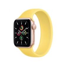 ساعت هوشمند اپل واچ SE مدل 40 میلی متری با بند ورزشی زرد و بدنه آلومینیومی طلایی