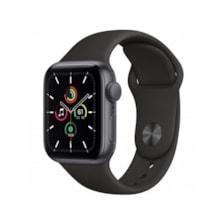 ساعت هوشمند اپل واچ SE مدل 40 میلی متری با بند ورزشی مشکی و بدنه آلومینیومی خاکستری