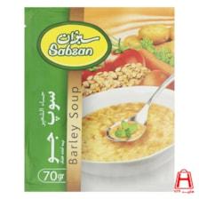 سوپ جو سبزان 70گرمی