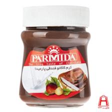 شکلات صبحانه فندوقی شیشه ای 400 گرمی پارمیدا