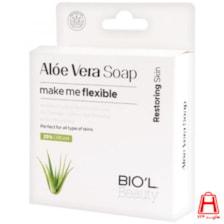 صابون آرایش پاکن شیرکرمی آلوئه ورا، ضد التهاب، پوست های خشک 100گرمی بیول