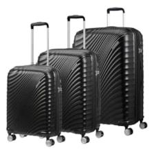 مجموعه سه عددی چمدان امریکن توریستر مدل JETGLAM 700491 با جنس پلی کربنات
