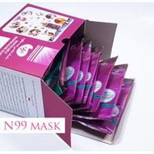 ماسک ۶ لایه سوپاپ دار N99 دارای فیلتر کربن فعال بسته ۱۵ عددی